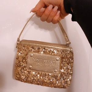 Nine West Gold Cluthch Wristlet